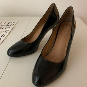 Corso como black patent high heels